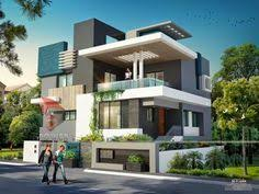 home desings front exterior design of indian bungalow 3d modern and villa plan