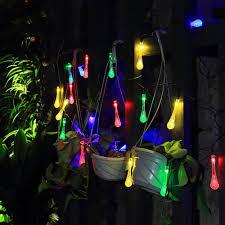 christmas tree solar lights outdoors solar lights garden decoration icicle ball rgb http www amazon com