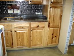 Rustic Alder Kitchen Cabinets Rustic Hickory Cabinets With Black Countertop And Chrome Metal