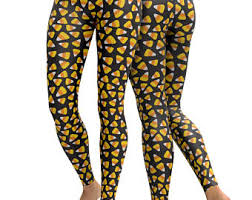candy corn leggings etsy