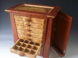 Over The Door Jewelry Cabinet 1000 Handmade Exotic Wood Jewelry Box Made Of Bubinga Wood And