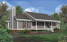 stylish design ideas house plans with full front porch 8 simple