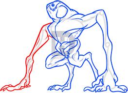 draw cloverfield monster step step darkonator