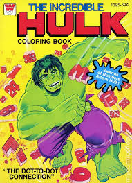 incredible hulk coloring book sc 1970 1980 whitman comic books