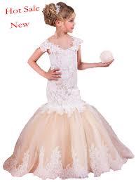 robe mariage enfants 2017 sirène arabe robes de demoiselle pour le mariage tulle et