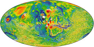Map Colors New Mars Gravity Map