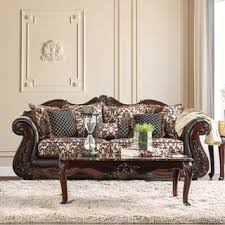 Fabric And Leather Sofa by Furniture Of America Sofas Couches U0026 Loveseats Shop The Best