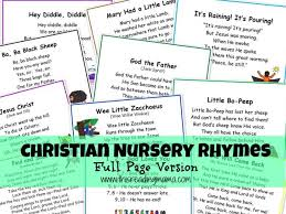 christian nursery rhymes page version plan to use for both