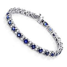 gold sapphire bracelet images 18k gold blue sapphire diamond tennis bracelet for women 3 76ct jpg