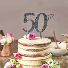 50th cake topper cake topper for 50th birthday by suzy q designs
