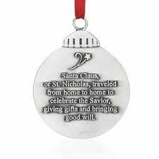 meaning of christmas santa ornament old forge pewter wendell august