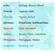 different ways to say merry in different languages