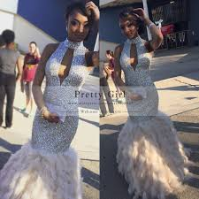 feathered dresses prom best dressed