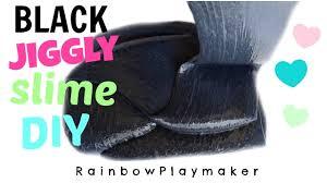 diy huge black glossy jiggly slime without borax kitchenaid