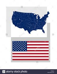 Rivers Of The United States Map by Map Of The United States Of America With Rivers And Lakes And