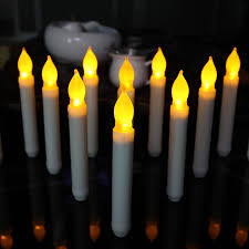 3pclot yellow flicker wax droped cheap candles tear drop tea light