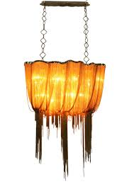 Chandelier Strands Ch1010 Large 24kt French Gold Cinched Metal Chain Industrial Chic