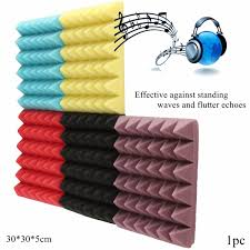 pyramid acoustic wedge studio soundproofing foam wall tiles 12