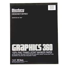 amazon com bienfang graphics 9 by 12 inch 360 paper pad 50