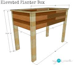 Wooden Planter Box Plans Free by Elevated Planter Box Plans My Love 2 Create