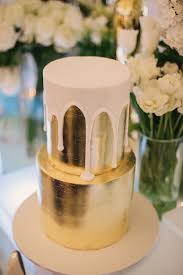 elegant disco wedding metallic wedding cakes white icing and