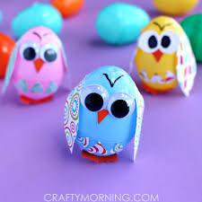 Decorating Eggs Plastic Easter Egg Owl Craft For Kids Crafty Morning