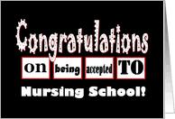 Congratulations Nurse Card Congratulations On Nursing Acceptance From Greeting Card