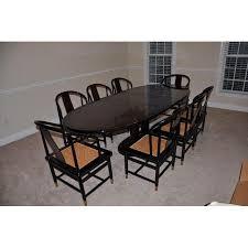 henredon art deco dining set set of 9 chairish