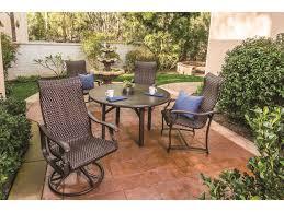 Tropitone Patio Furniture Covers - tropitone ravello woven swivel rocker dining chair 650770ws