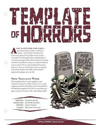 template of horrors 5e en publishing d u0026d 5th edition