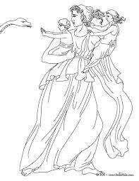 leto the greek titan goddess of motherhood coloring pages