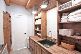 Cabinet Laundry Room White Rustic Laundry Room Cabinet With Hutch Diy Projects