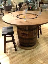 whiskey barrel bar table how to build a whiskey barrel coffee table step 1 whiskey barrels