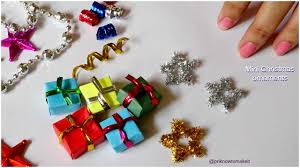 christmas ornaments 3 easy mini christmas ornaments diy youtube