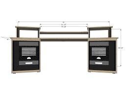 Small Recording Studio Desk Studio Desk Workstation Hostgarcia