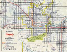 Downtown Phoenix Map by Interstate Guide Interstate 17