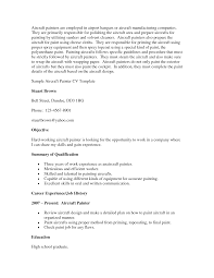 Sample Objective On A Resume Painters Resume Sample Objective Summary Of Qualifications