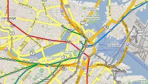 map of boston subway boston map with subway stops my