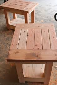 Free Wood End Table Plans by Diy Cooking All The Thyme