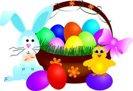 easter bunny baskets easter clipart image easter bunny easter basket a and