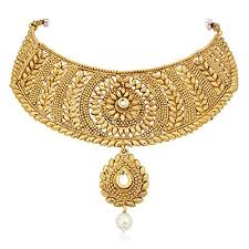 gold choker necklace set images Meenaz ethnic premium jewellery gold plated choker jewellery set jpg