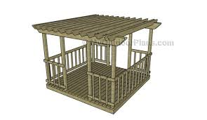 Decking Pergola Ideas by Deck Pergola Plans Myoutdoorplans Free Woodworking Plans And