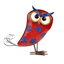 funky metal garden owl ornament