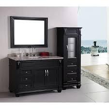 48 Inch Solid Wood Bathroom Vanity by Element Solid Wood 48 Inch Quartz Top Modern Single Sink Vanity