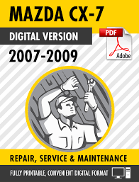 2007 2009 mazda cx 7 2 3l turbo factory repair service manual ebay