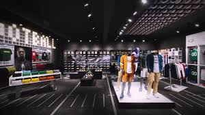 nike interior concept for champs retail c lewis art