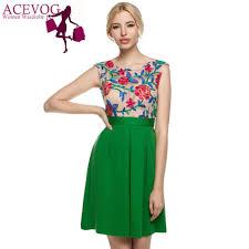 aliexpress com buy acevog women vintage style a line sleeveless