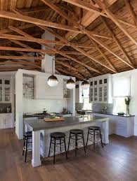 Transitional Island Lighting Truss Ceiling Kitchen Transitional With Island Lighting Midcentury