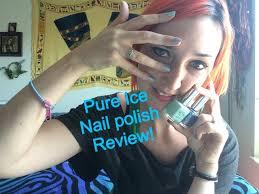 pure ice nail polish review youtube