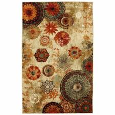 Floral Area Rug Floral Area Rug Indoor Outdoor 5 8 Modern Carpet Orange Red Living